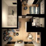 Rzut mieszkanie - osiedle Jagielnia